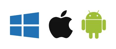 Windows, Apple, Android operating system